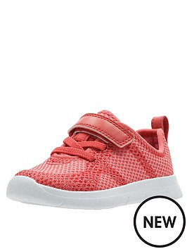 Clarks Toddler Flux Trainers - Coral  4c6a17b9e622