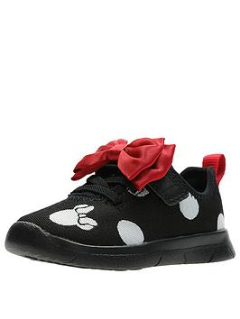 clarks minnie mouse toddler bow trainer