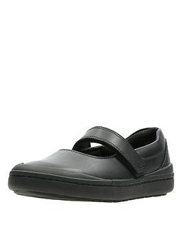 clarks rock spark school shoe - black