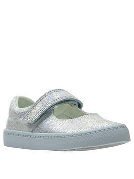 clarks toddler city gleam shoe - blue