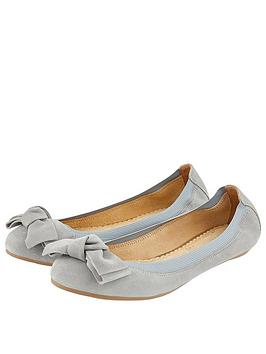 accessorize-olivia-suede-bow-ballerina-flats-grey