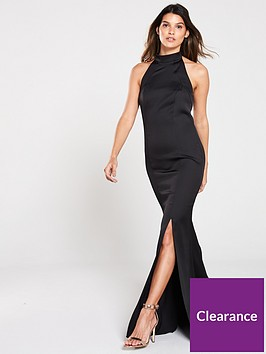 v-by-very-high-neck-fish-tail-maxi-dress