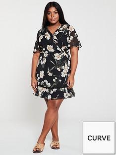 v-by-very-curve-lace-trim-floral-tea-dress-print