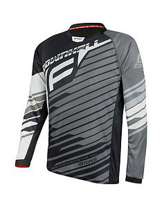 force-downhill-long-sleeve-mtb-jersey-greyblackwhite