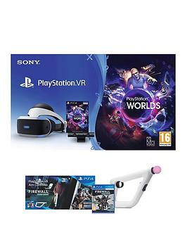 playstation-vr-playstation-vr-starter-pack-with-firewall-zero-hour-playstation-aim-controllernbspand-optional-move-controller