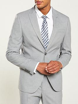 River Island River Island Grey Textured Skinny Suit Jacket Picture