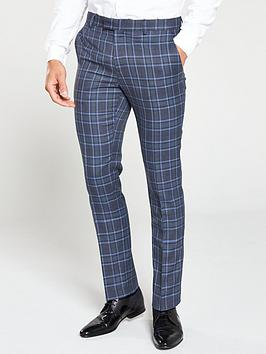 river-island-syriams-blue-check-trousers