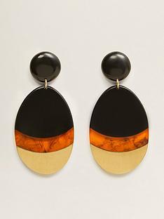 mango-resin-metallic-tortoiseshell-mix-earrings
