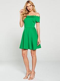 ted-baker-fellama-bardot-scallop-skater-dress-bright-green