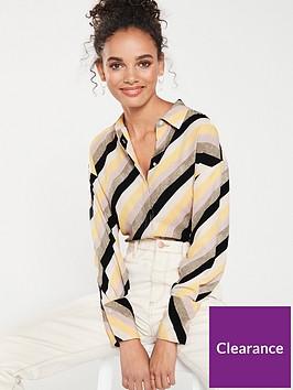 mango-stripe-shirt-yellow