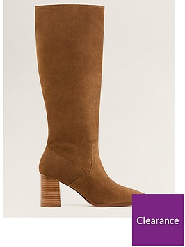 mango-leather-calf-boots-brown