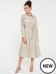 mango-cotton-shirt-dress-beige
