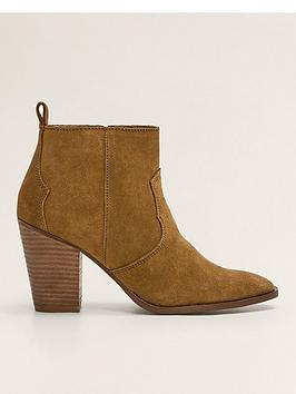 mango-suede-ankle-boots-brown