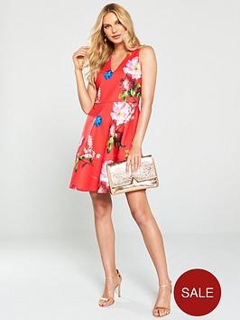 ted-baker-kinle-berry-sundae-skater-dress-red