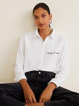 mango-love-slogan-shirt-white
