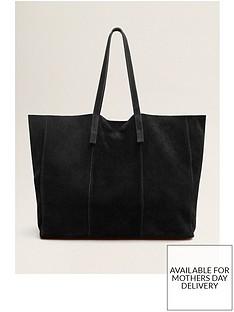 mango-suede-shopper-black