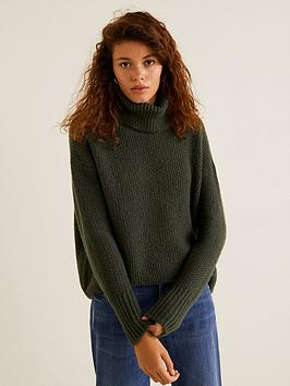 mango-roll-neck-knitted-jumper-khaki
