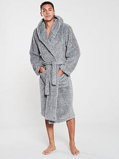 v-by-very-two-tone-supersoft-hooded-robe-grey