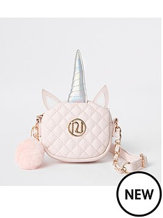 river-island-girls-pink-quilted-unicorn-cross-body-bag