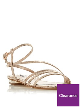 dune-london-wide-fit-nissey-flat-sandals-gold