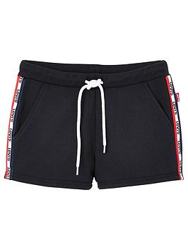 Levi's Levi'S Girls Taped Jersey Shorts - Black Picture
