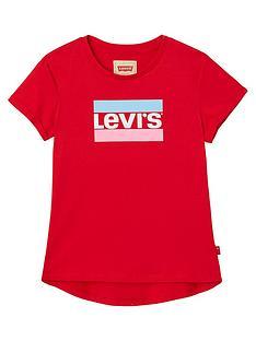 levis-girls-short-sleeve-logo-t-shirt-red