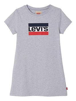 levis-girls-short-sleeve-logo-t-shirt-dress-grey-marl