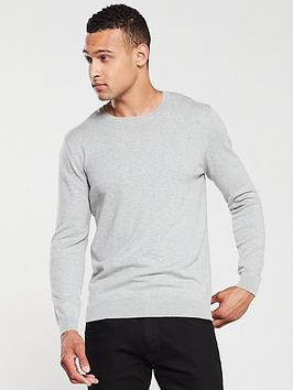 V by Very V By Very Crew Neck Jumper - Grey Marl Picture