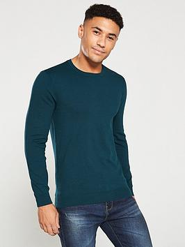 V by Very V By Very Crew Neck Jumper - Bottle Green Picture