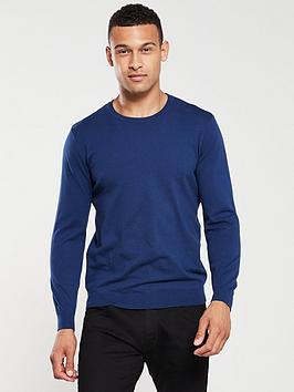V by Very V By Very Crew Neck Jumper - Navy Blue Picture