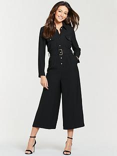 michelle-keegan-utility-casual-jumpsuit-black