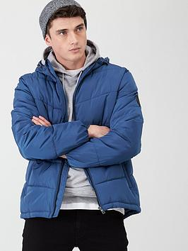 V by Very V By Very Hooded Padded Jacket - Airforce Blue