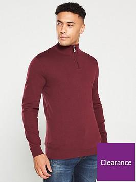 v-by-very-quarter-zip-neck-jumper-burgundy