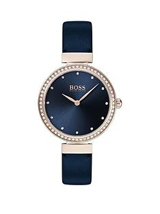 boss-boss-celebration-blue-sunray-crystal-set-rose-gold-dial-blue-leather-strap-ladies-watch