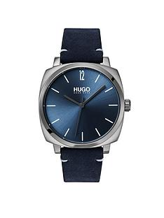 hugo-hugo-own-blue-and-grey-box-case-dial-blue-leather-strap-mens-watch
