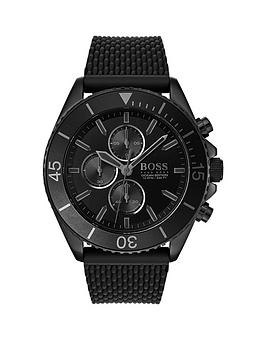 boss-boss-ocean-edition-black-chronograph-dial-black-silicone-strap-mens-watch