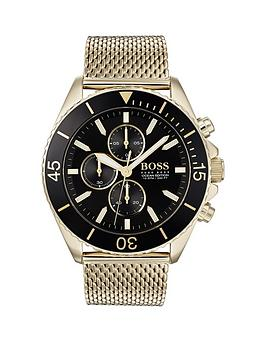 Boss Boss Boss Ocean Edition Black And Gold Detail Chronograph Dial Gold  ... Picture