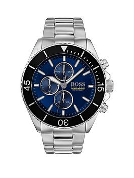 boss-boss-ocean-edition-blue-sunray-chronograph-dial-stainless-steel-bracelet-mens-watch