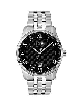 boss-master-black-date-dial-stainless-steel-bracelet-mens-watch