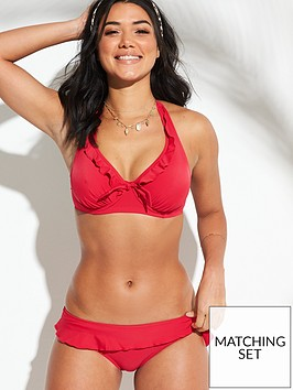 650e45f61db Splash Frill Bikini Brief - Red