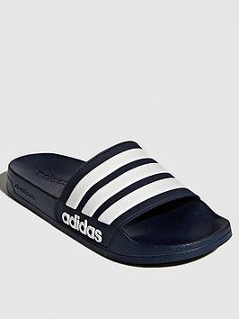 Adidas   Adilette Shower Slide - Navy/White