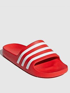 Adidas Adidas Adilette Aqua Slide - Red/White Picture