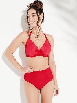 Pour Moi Pour Moi Bali Adjustable Halter Underwired Bikini Top - Red Picture