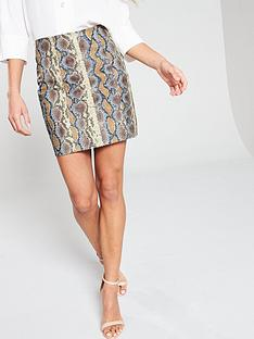 v-by-very-coloured-snake-a-line-skirt-snake-print