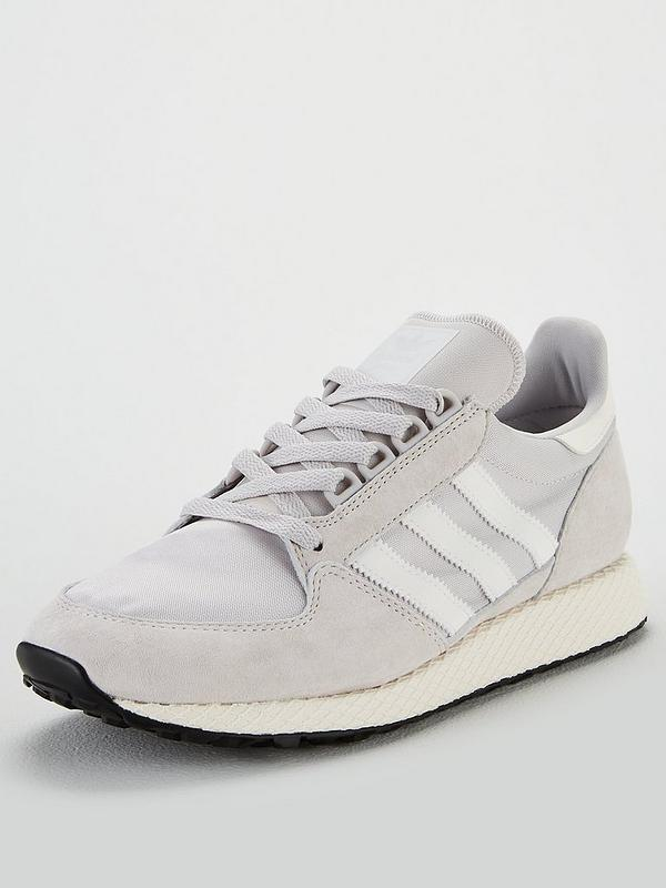 Adidas Forest Grove Mens Suede Trainers Grey | eBay
