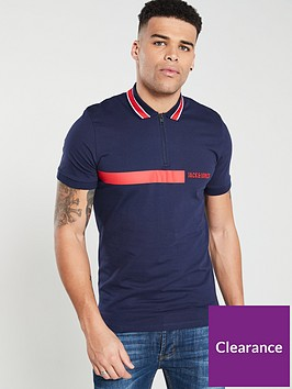 jack-jones-pretori-zip-up-logo-polo