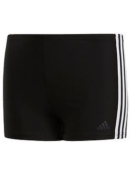 Adidas Swim Fit Boxer 3 Stripe Youth - Black/White
