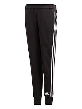 adidas-youth-3-stripe-pants-blackwhite