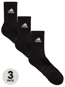 adidas-cushion-3-pack-crew-socks-black