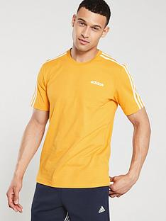 adidas-3-stripe-t-shirt-gold